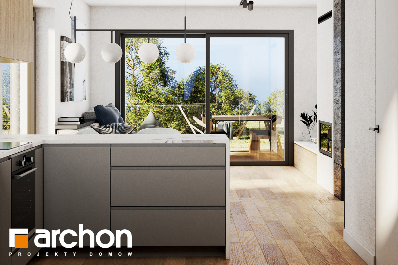 Проект будинку ARCHON+ Будинок в люцерні 8 візуалізація кухні 1 від 3