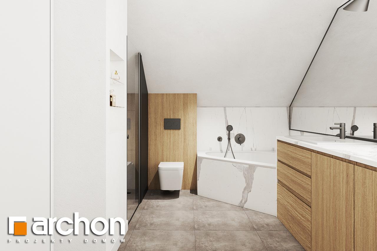 Проект будинку ARCHON+ Будинок в люцерні 8 візуалізація ванни (візуалізація 3 від 3)
