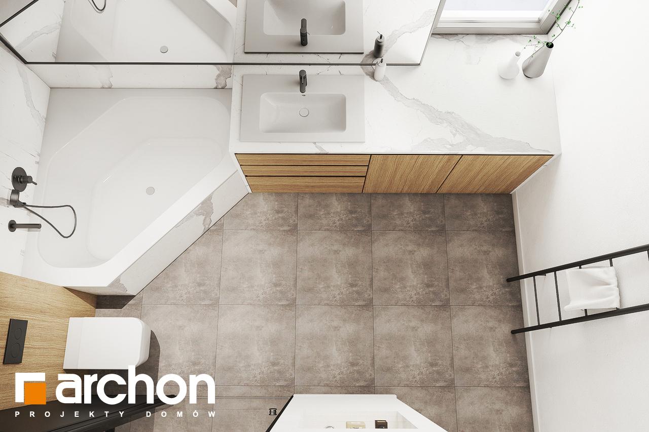 Проект будинку ARCHON+ Будинок в люцерні 8 візуалізація ванни (візуалізація 3 від 4)