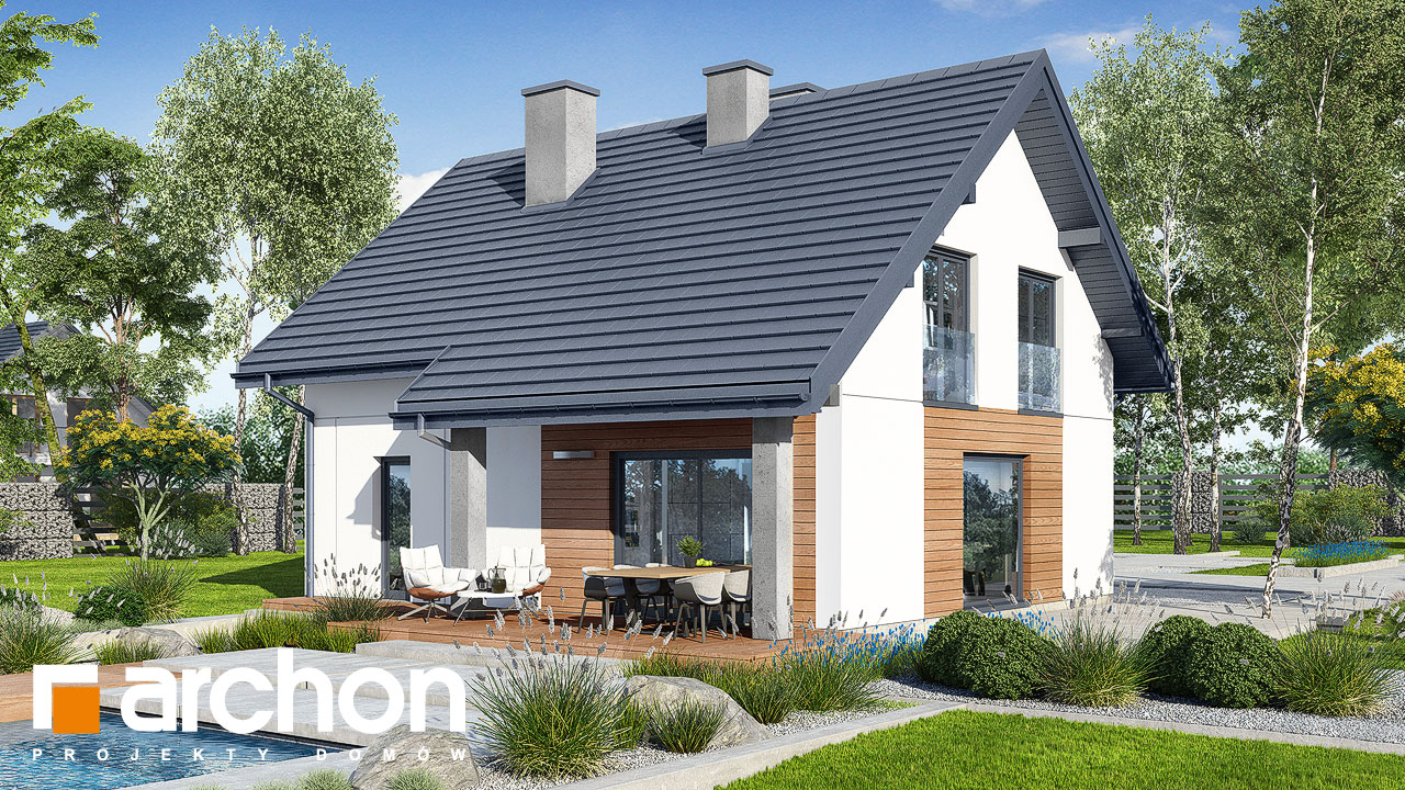 Проект будинку ARCHON+ Будинок в люцерні 8 Вид 2