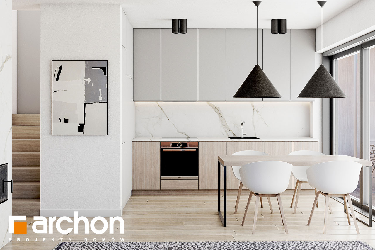 Проект будинку ARCHON+ Будинок в голокупнику (А) візуалізація кухні 1 від 1