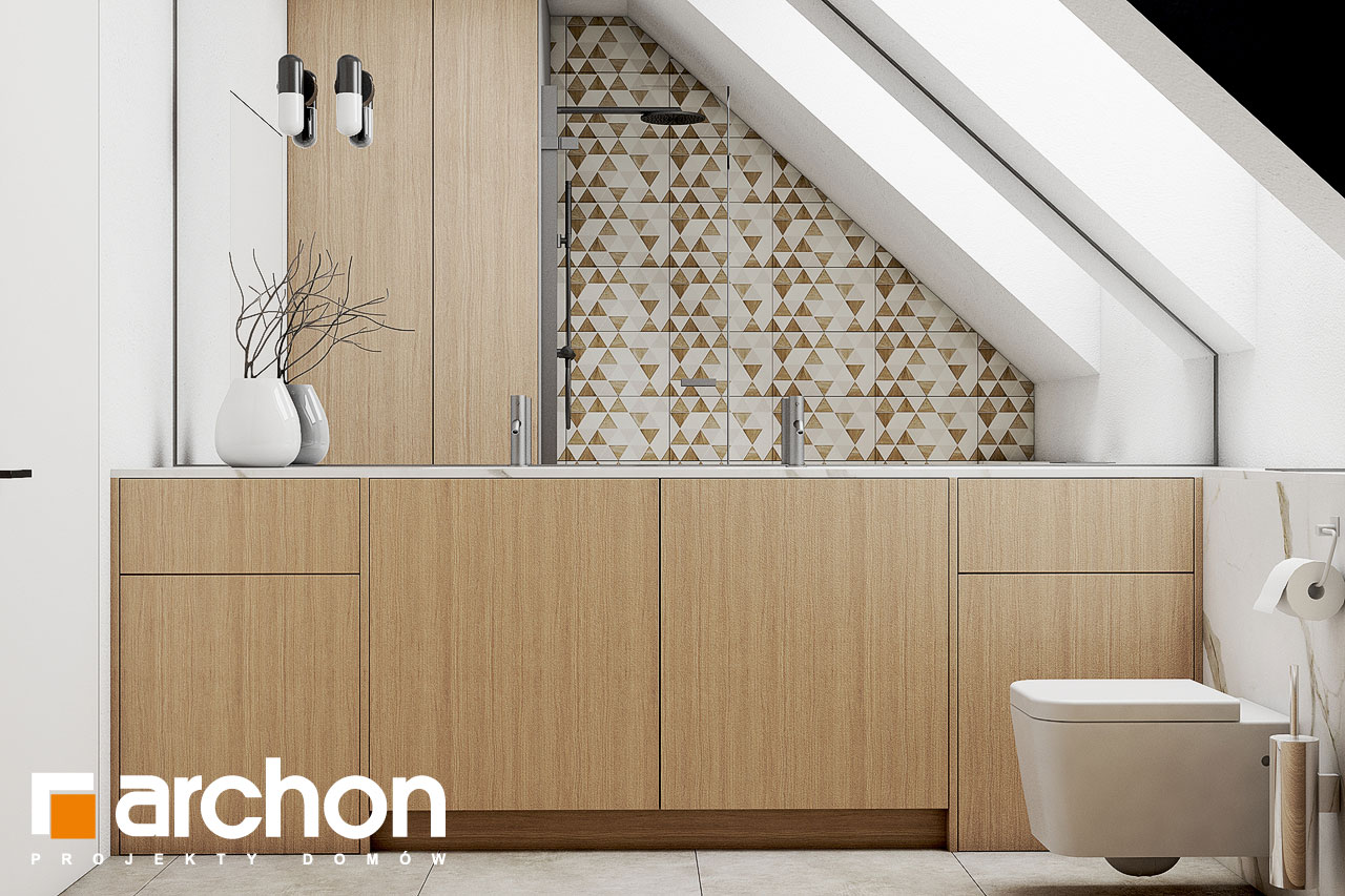 Проект будинку ARCHON+ Будинок в голокупнику (А) візуалізація ванни (візуалізація 3 від 1)