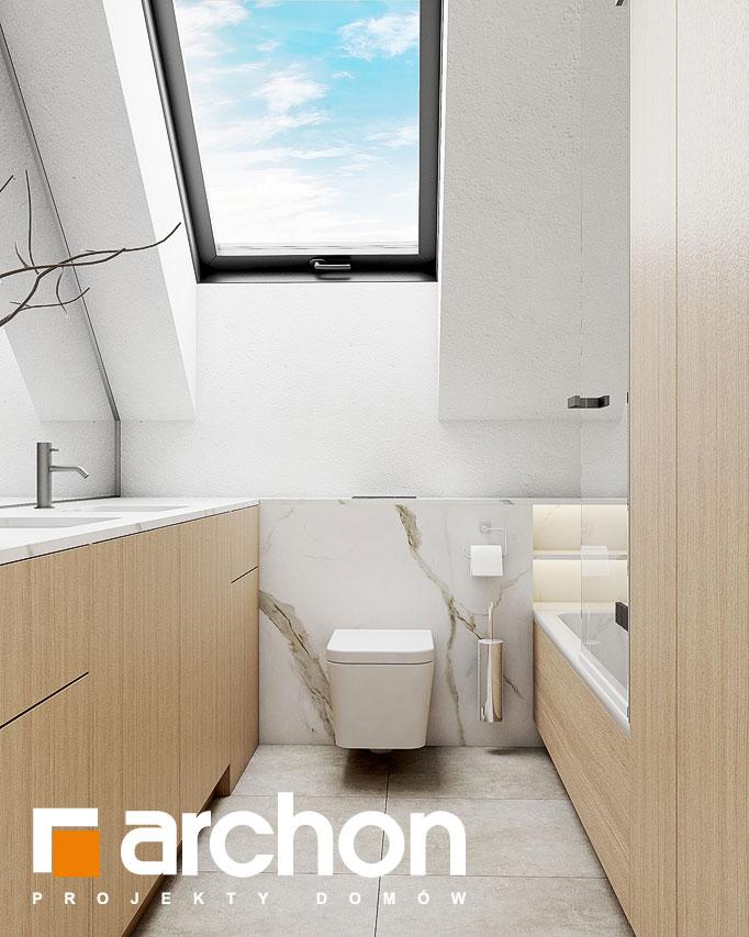 Проект будинку ARCHON+ Будинок в голокупнику (А) візуалізація ванни (візуалізація 3 від 2)