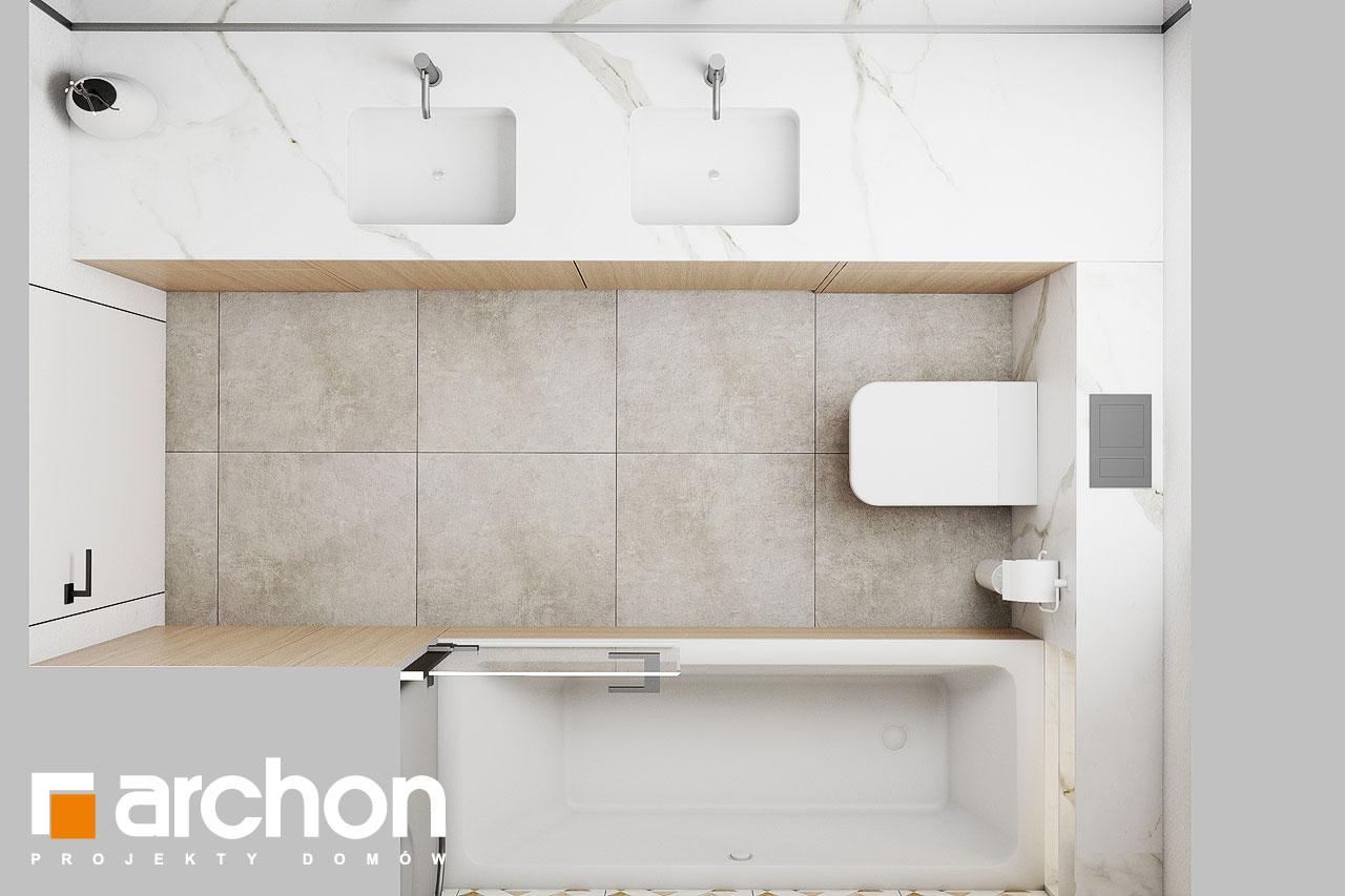 Проект будинку ARCHON+ Будинок в голокупнику (А) візуалізація ванни (візуалізація 3 від 4)