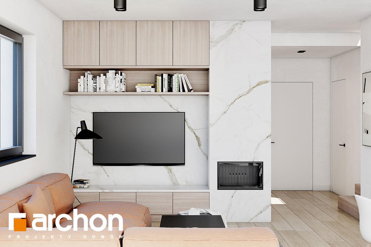 Проект будинку ARCHON+ Будинок в голокупнику (А) денна зона (візуалізація 1 від 1)
