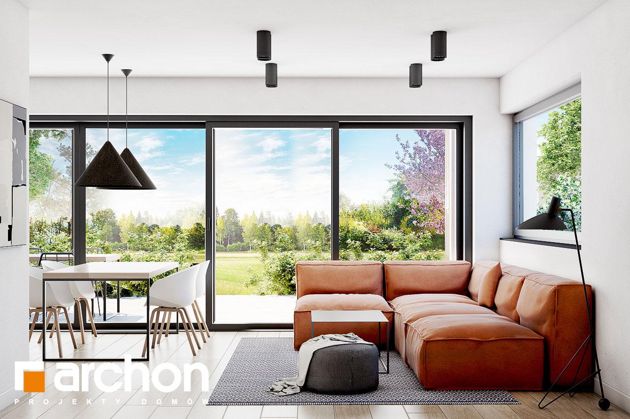 Проект будинку ARCHON+ Будинок в голокупнику (А) денна зона (візуалізація 1 від 2)