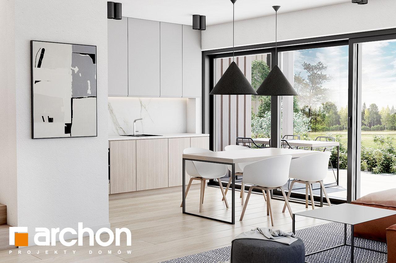 Проект будинку ARCHON+ Будинок в голокупнику (А) денна зона (візуалізація 1 від 3)