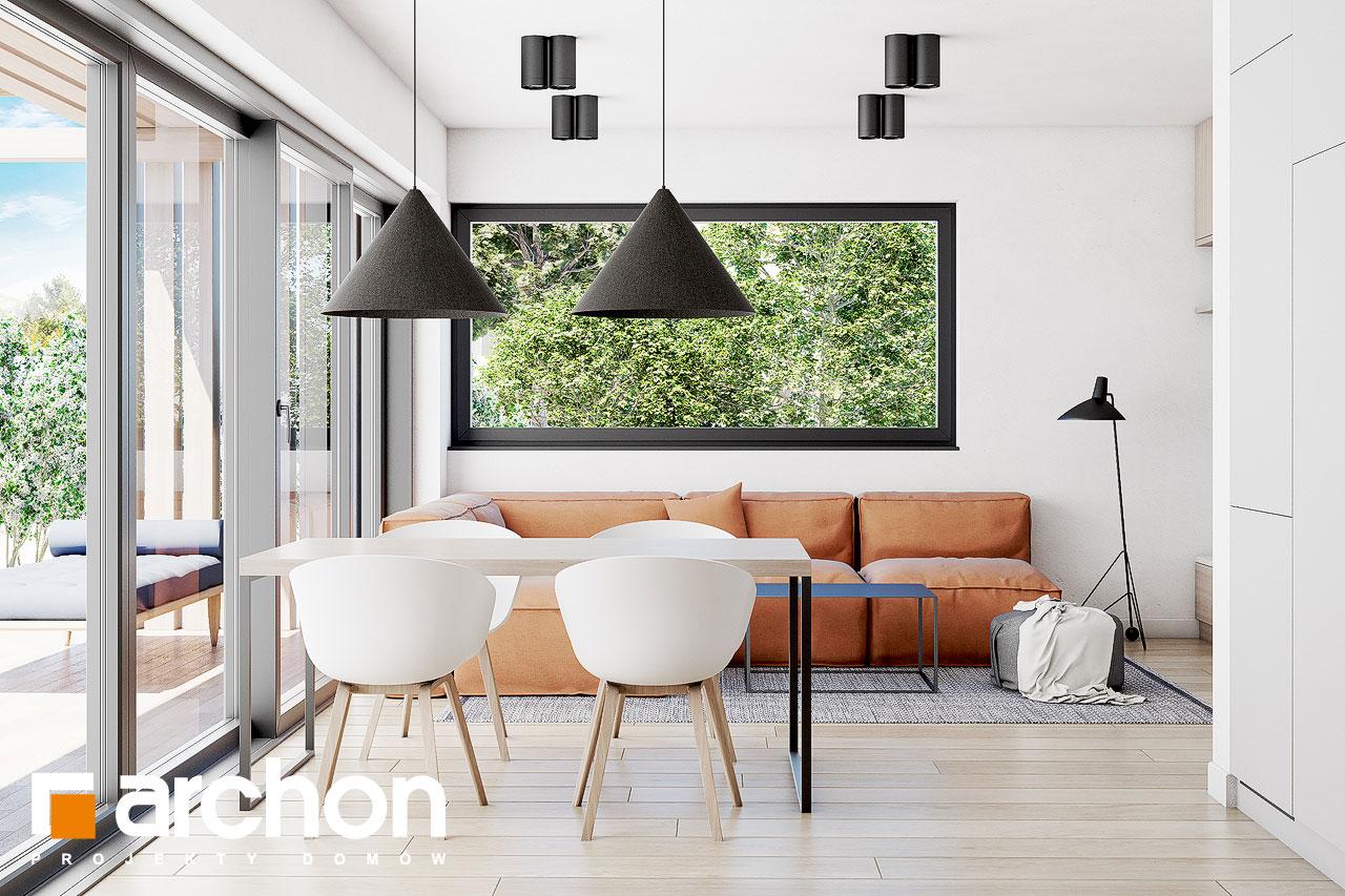 Проект будинку ARCHON+ Будинок в голокупнику (А) денна зона (візуалізація 1 від 5)