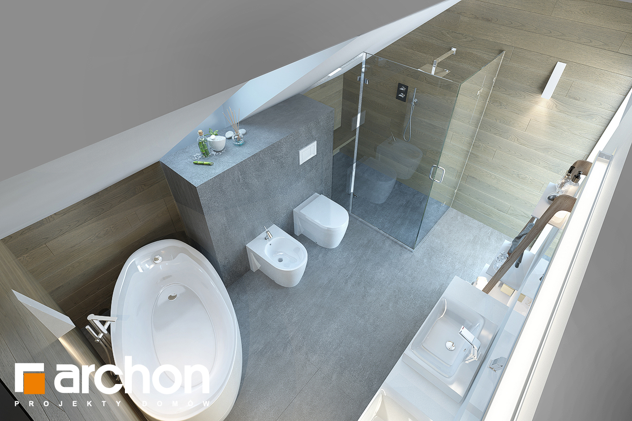 Проект будинку ARCHON+ Будинок в смарагдах візуалізація ванни (візуалізація 3 від 4)