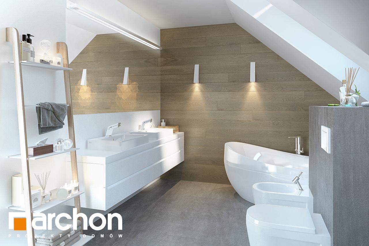 Проект дома ARCHON+ Дом в изумрудах визуализация ванной (визуализация 3 вид 1)