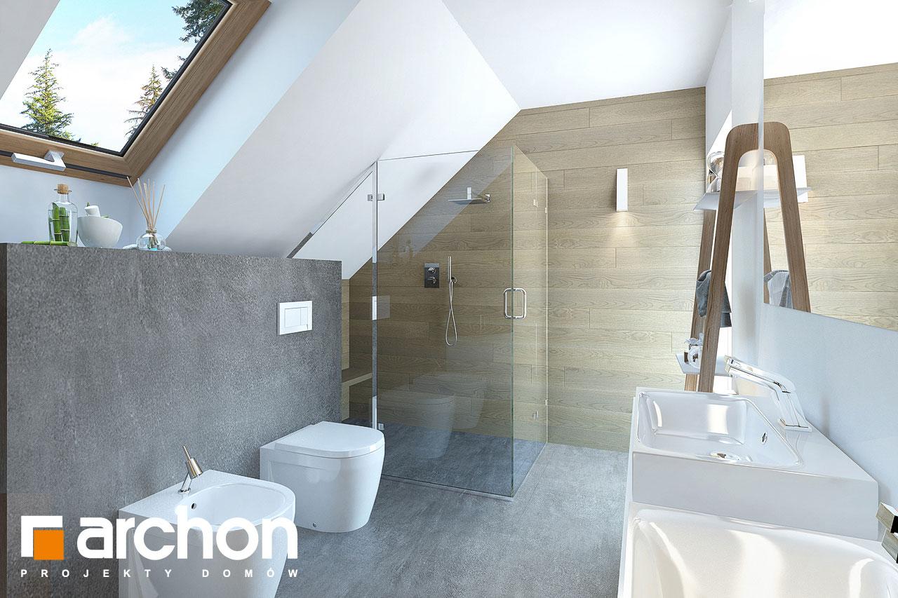 Проект дома ARCHON+ Дом в изумрудах визуализация ванной (визуализация 3 вид 2)