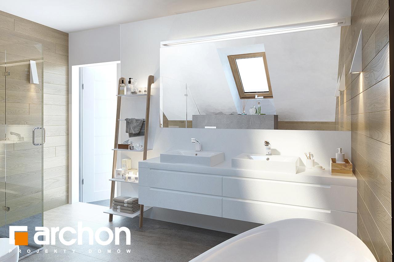Проект дома ARCHON+ Дом в изумрудах визуализация ванной (визуализация 3 вид 3)