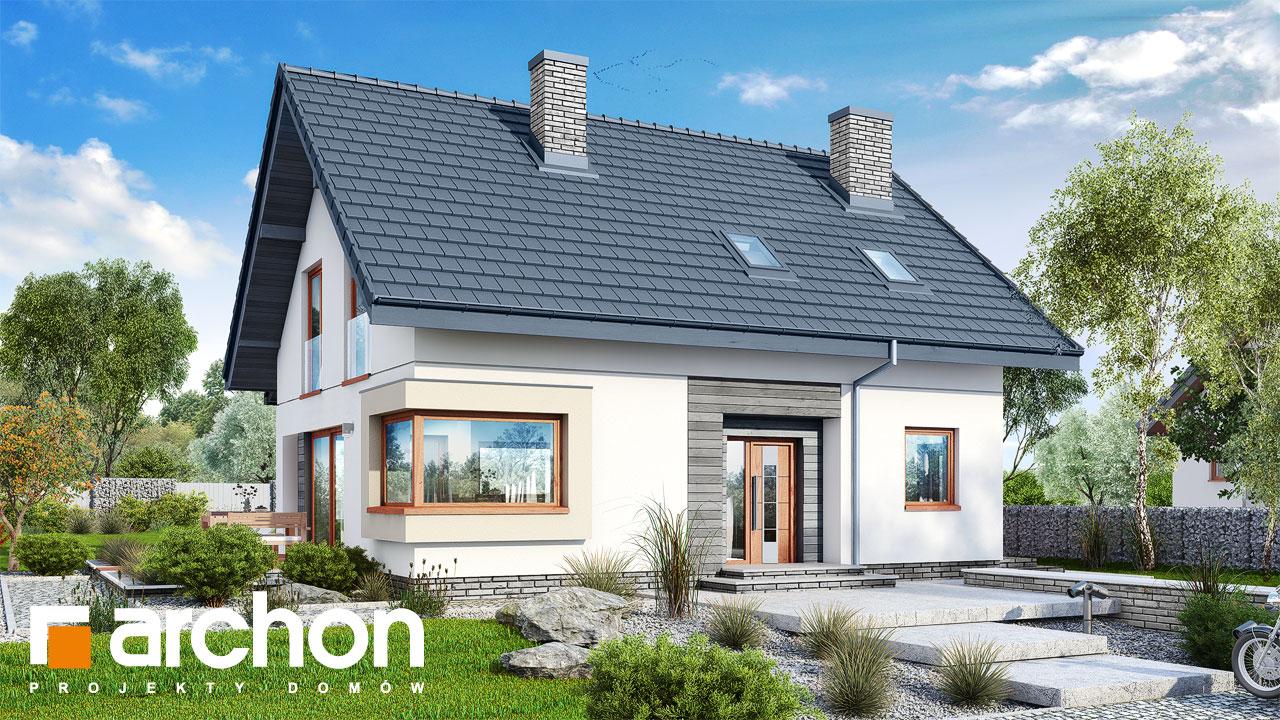 Проект будинку ARCHON+ Будинок в смарагдах стилізація 3