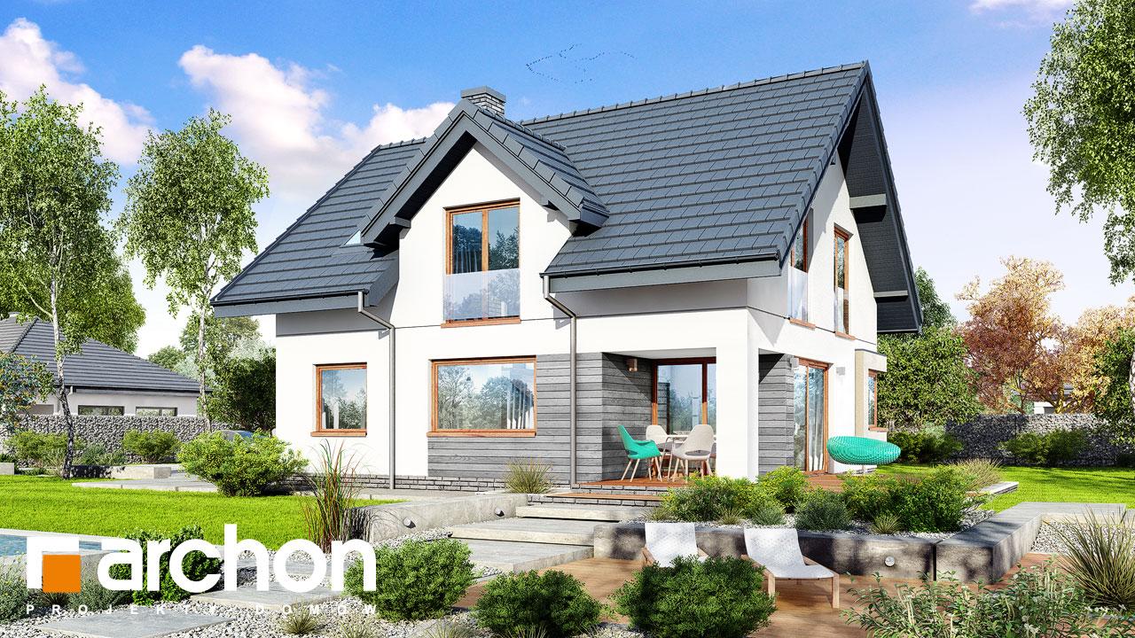 Проект будинку ARCHON+ Будинок в смарагдах стилізація 4