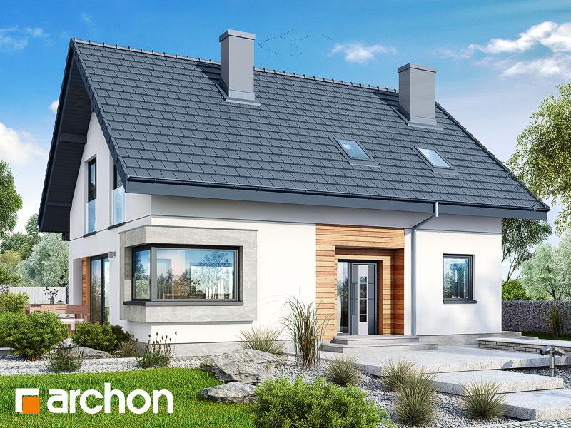 Проект дома ARCHON+ Дом в изумрудах Вид 1