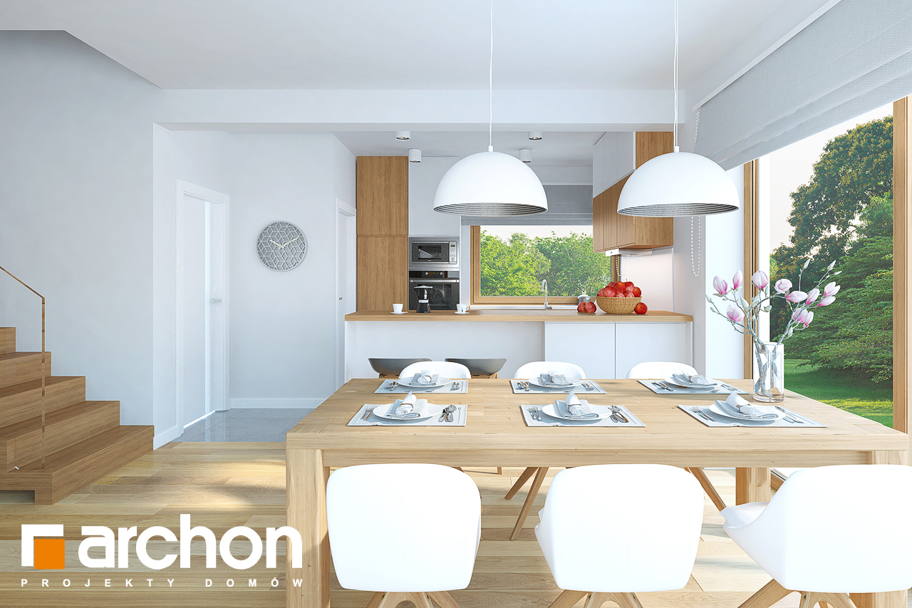Проект будинку ARCHON+ Будинок в смарагдах денна зона (візуалізація 1 від 3)