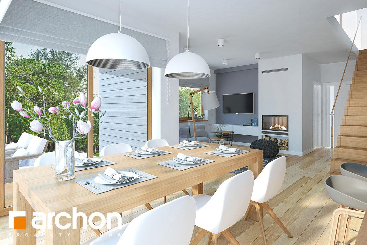 Проект будинку ARCHON+ Будинок в смарагдах денна зона (візуалізація 1 від 5)