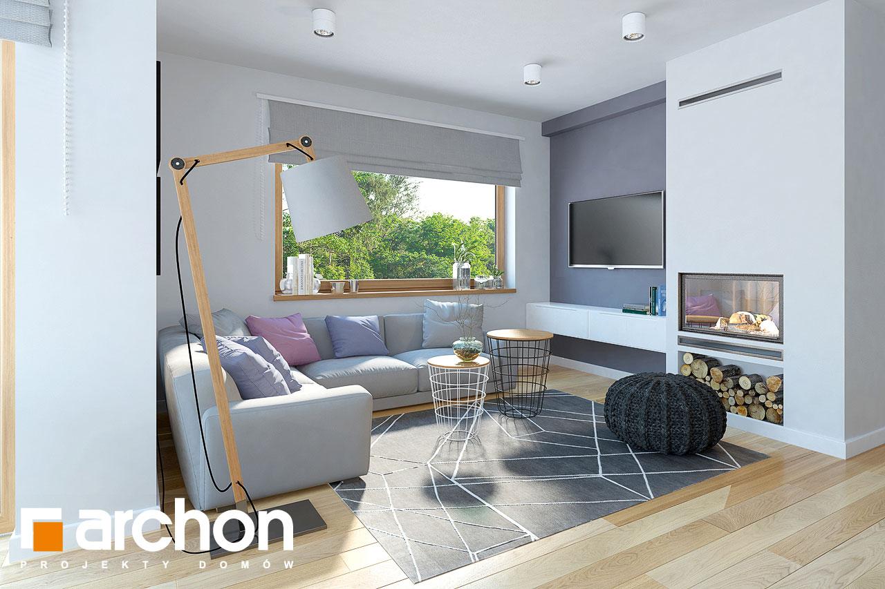 Проект дома ARCHON+ Дом в изумрудах дневная зона (визуализация 1 вид 1)
