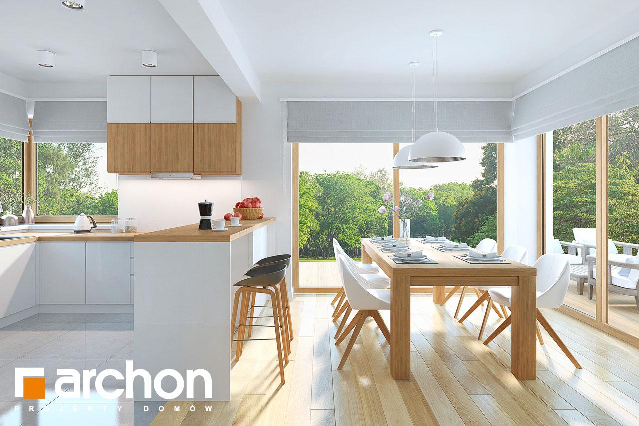 Проект дома ARCHON+ Дом в изумрудах дневная зона (визуализация 1 вид 4)