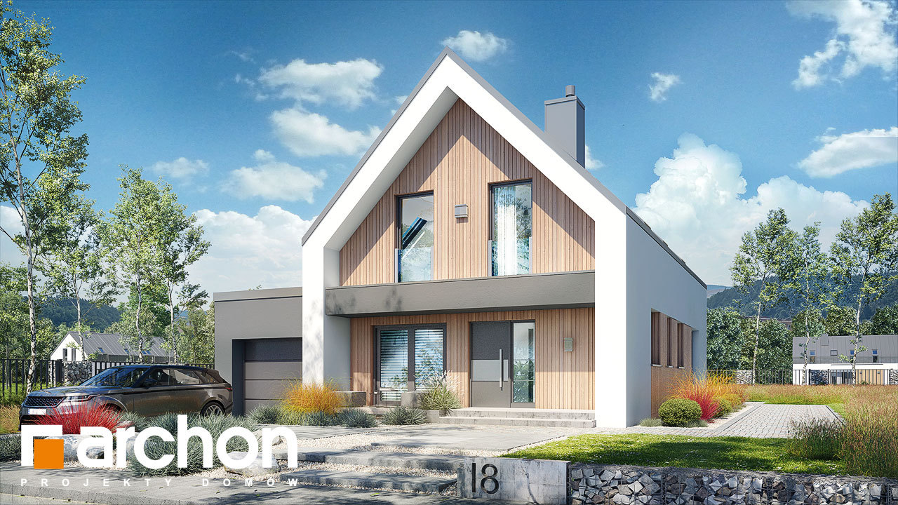 Проект будинку ARCHON+ Будинок в папаверах 2