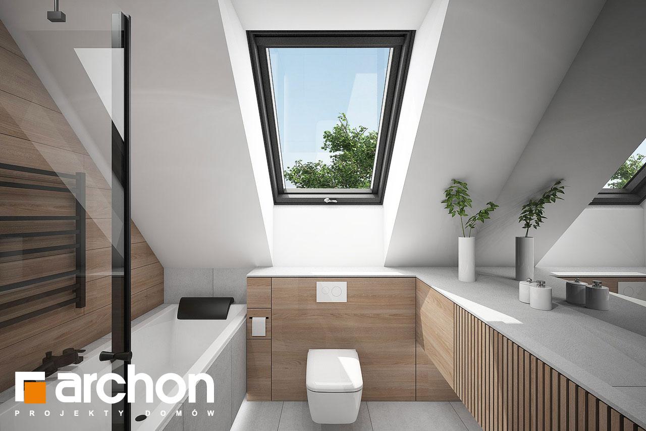 Проект будинку ARCHON+ Будинок в папаверах 2 візуалізація ванни (візуалізація 3 від 1)