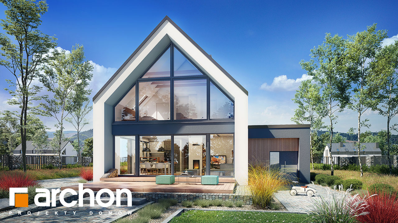 Проект будинку ARCHON+ Будинок в папаверах 2 Вид 2