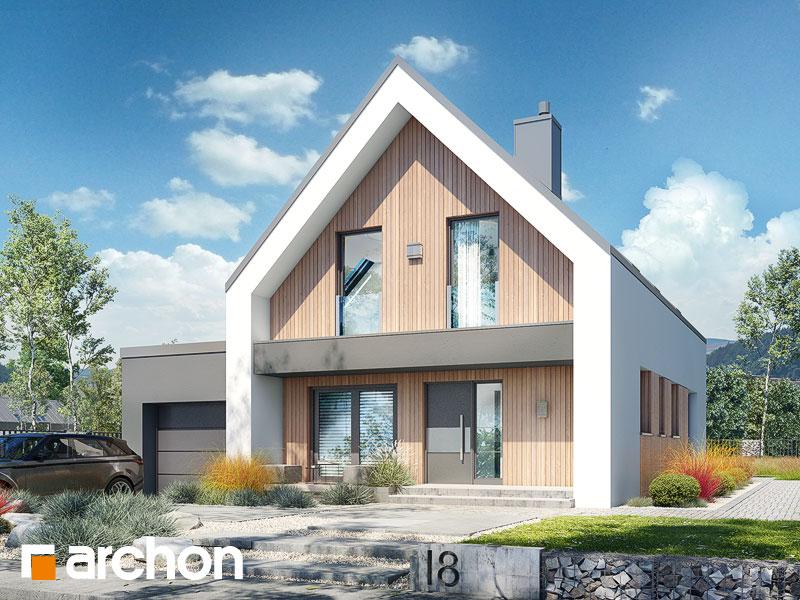 Проект будинку ARCHON+ Будинок в папаверах 2 Вид 1