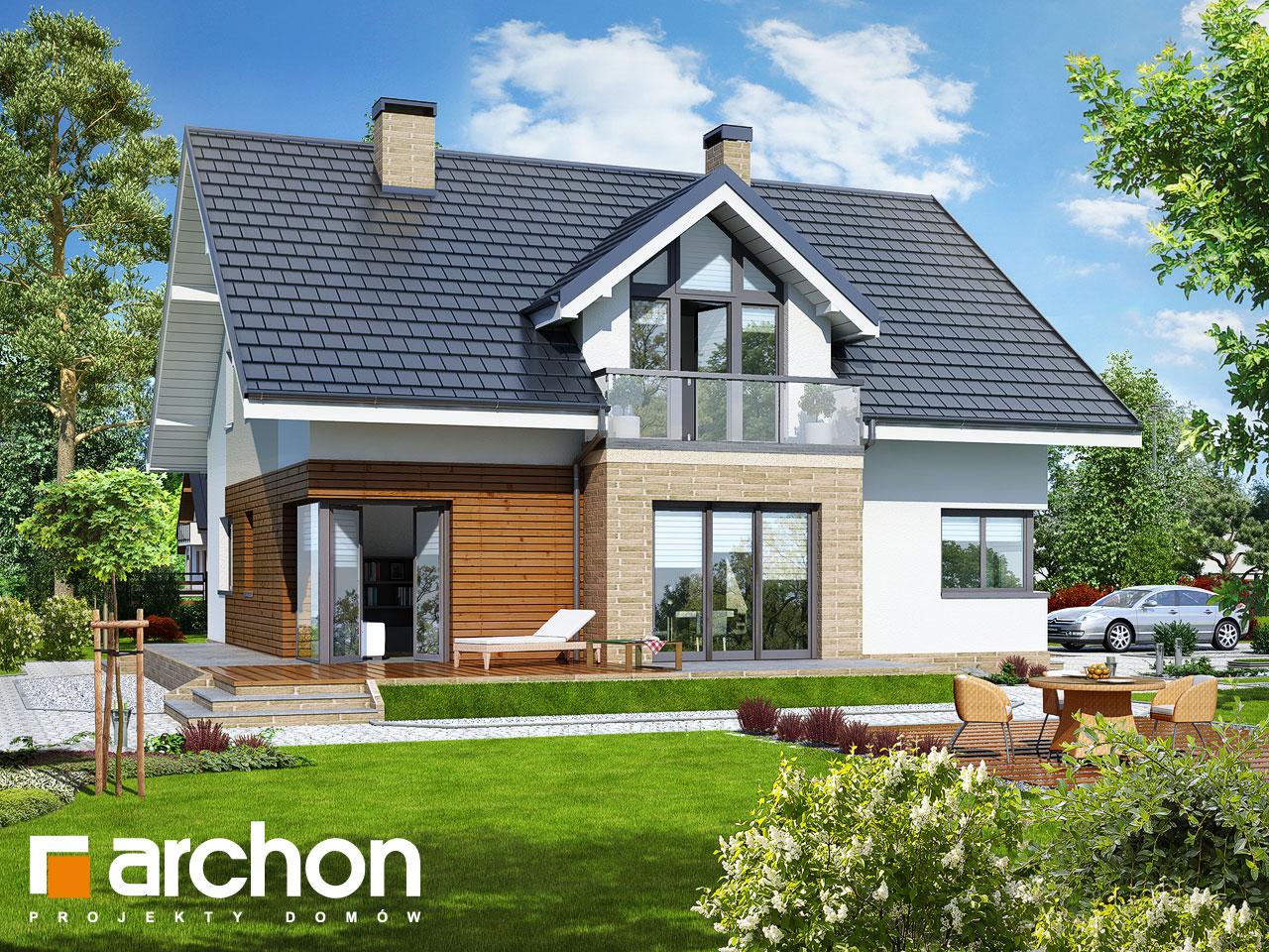 Проект будинку ARCHON+ Будинок в тим'яні 5 TERMO вер.2 Вид 2