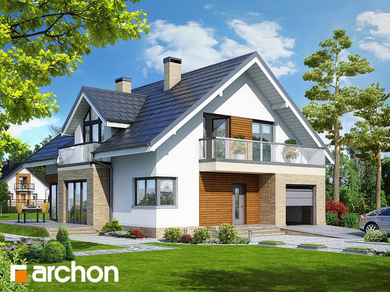 Проект будинку ARCHON+ Будинок в тим'яні 5 TERMO вер.2 Вид 1