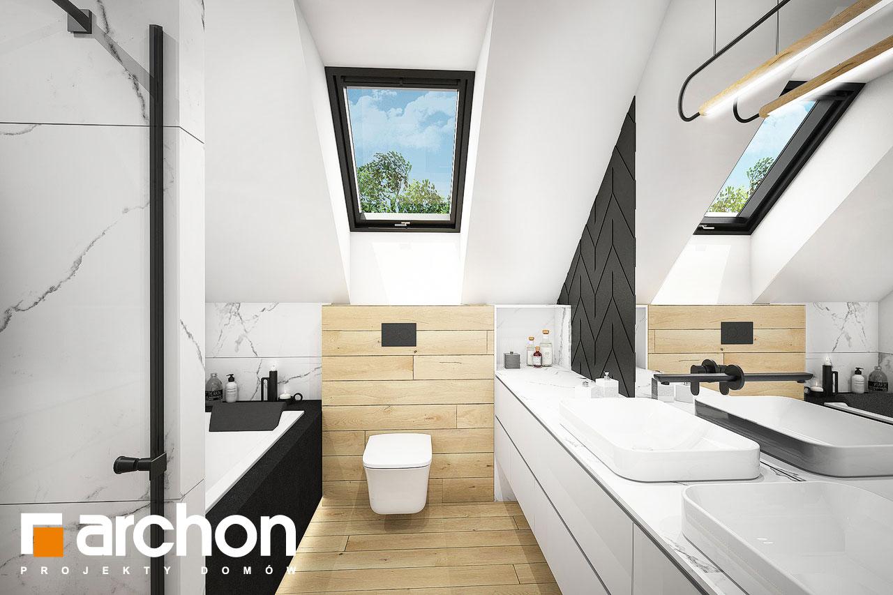 Проект будинку ARCHON+ Будинок в малинівці 11 (ГА) візуалізація ванни (візуалізація 3 від 1)