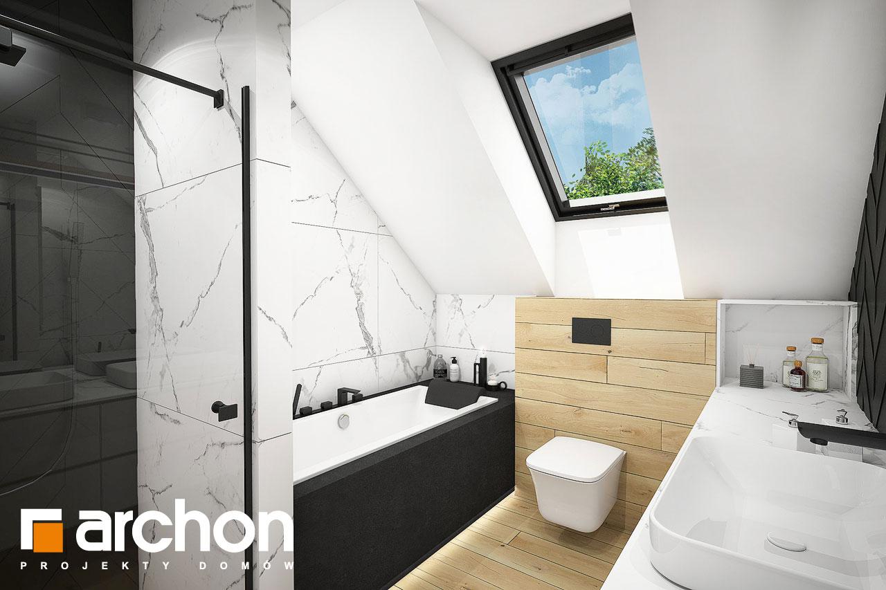 Проект будинку ARCHON+ Будинок в малинівці 11 (ГА) візуалізація ванни (візуалізація 3 від 2)