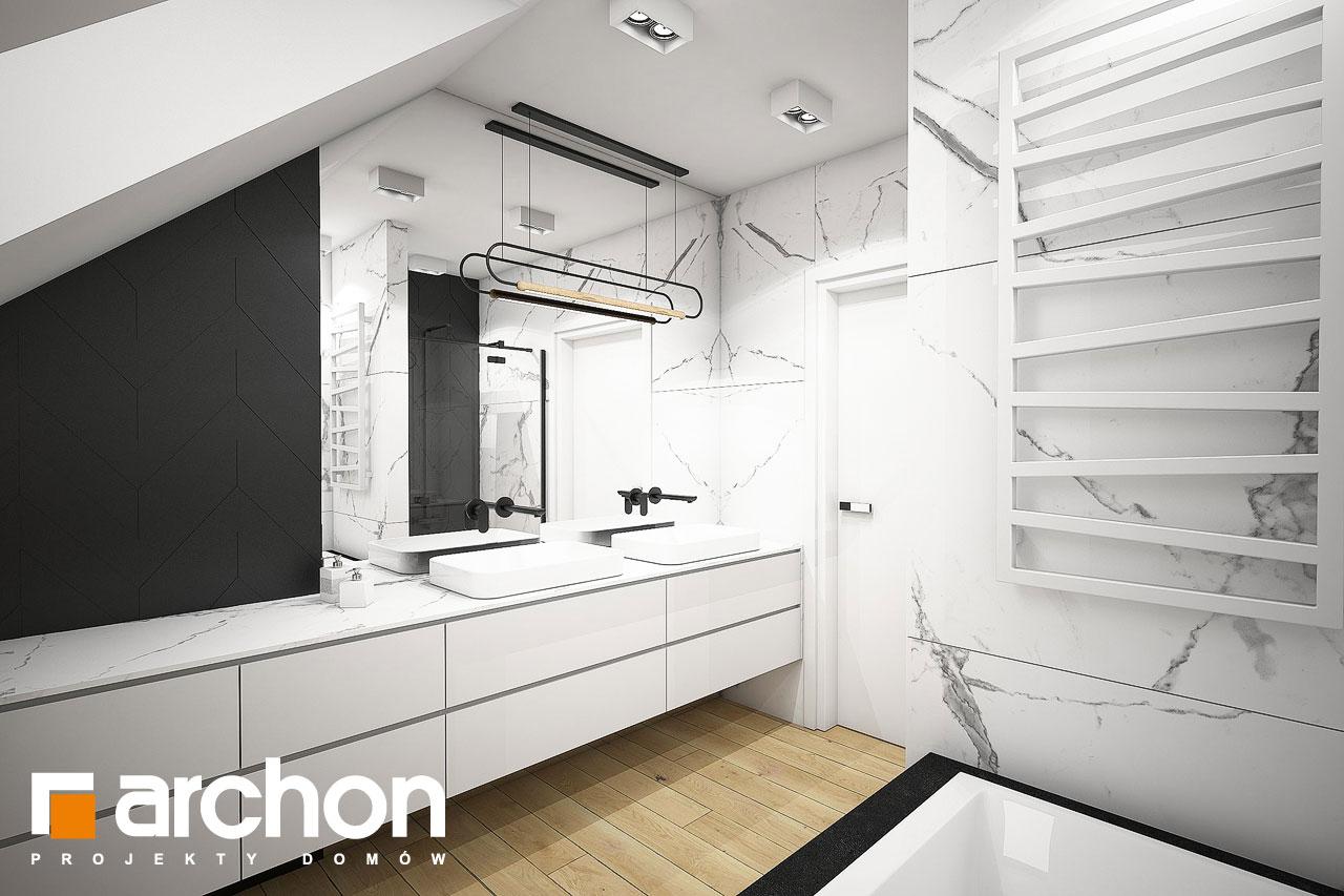 Проект будинку ARCHON+ Будинок в малинівці 11 (ГА) візуалізація ванни (візуалізація 3 від 3)