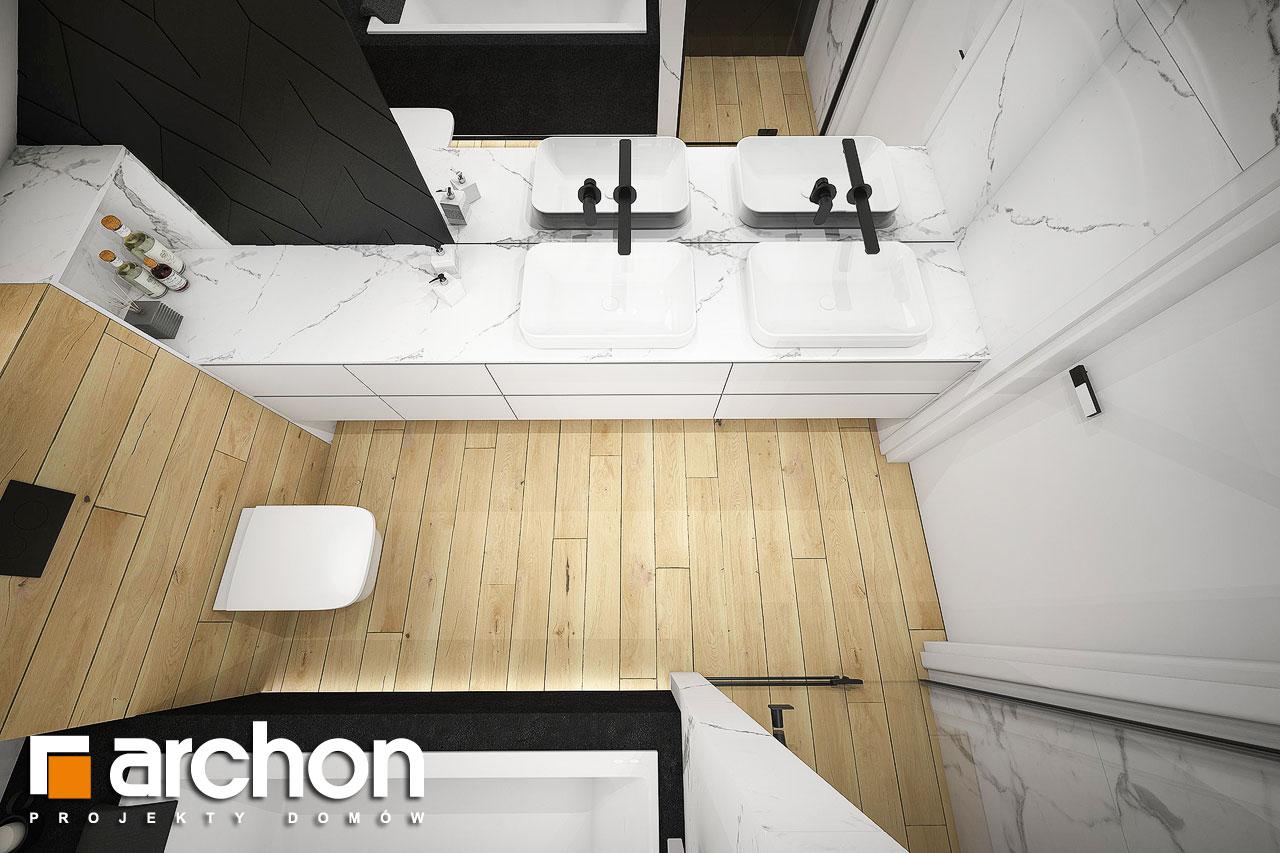 Проект будинку ARCHON+ Будинок в малинівці 11 (ГА) візуалізація ванни (візуалізація 3 від 4)