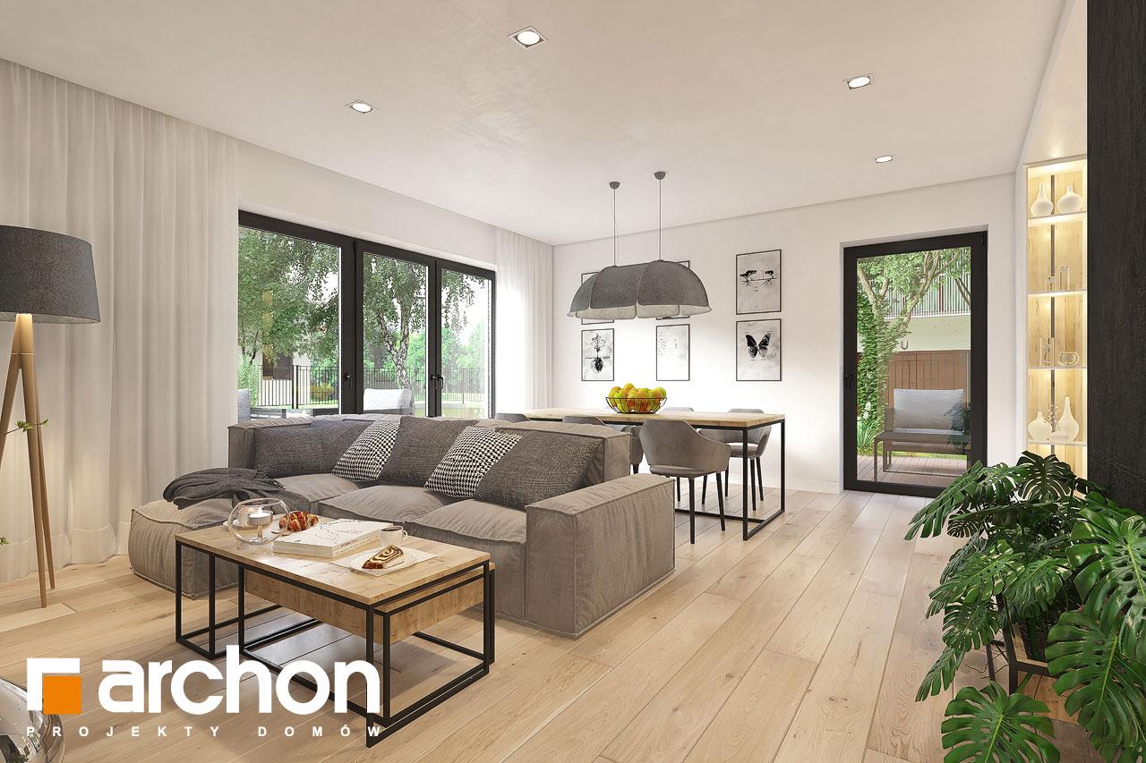 Проект будинку ARCHON+ Будинок в малинівці 11 (ГА) денна зона (візуалізація 1 від 1)