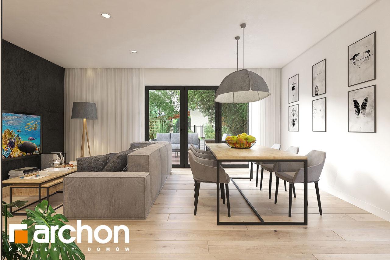 Проект будинку ARCHON+ Будинок в малинівці 11 (ГА) денна зона (візуалізація 1 від 2)