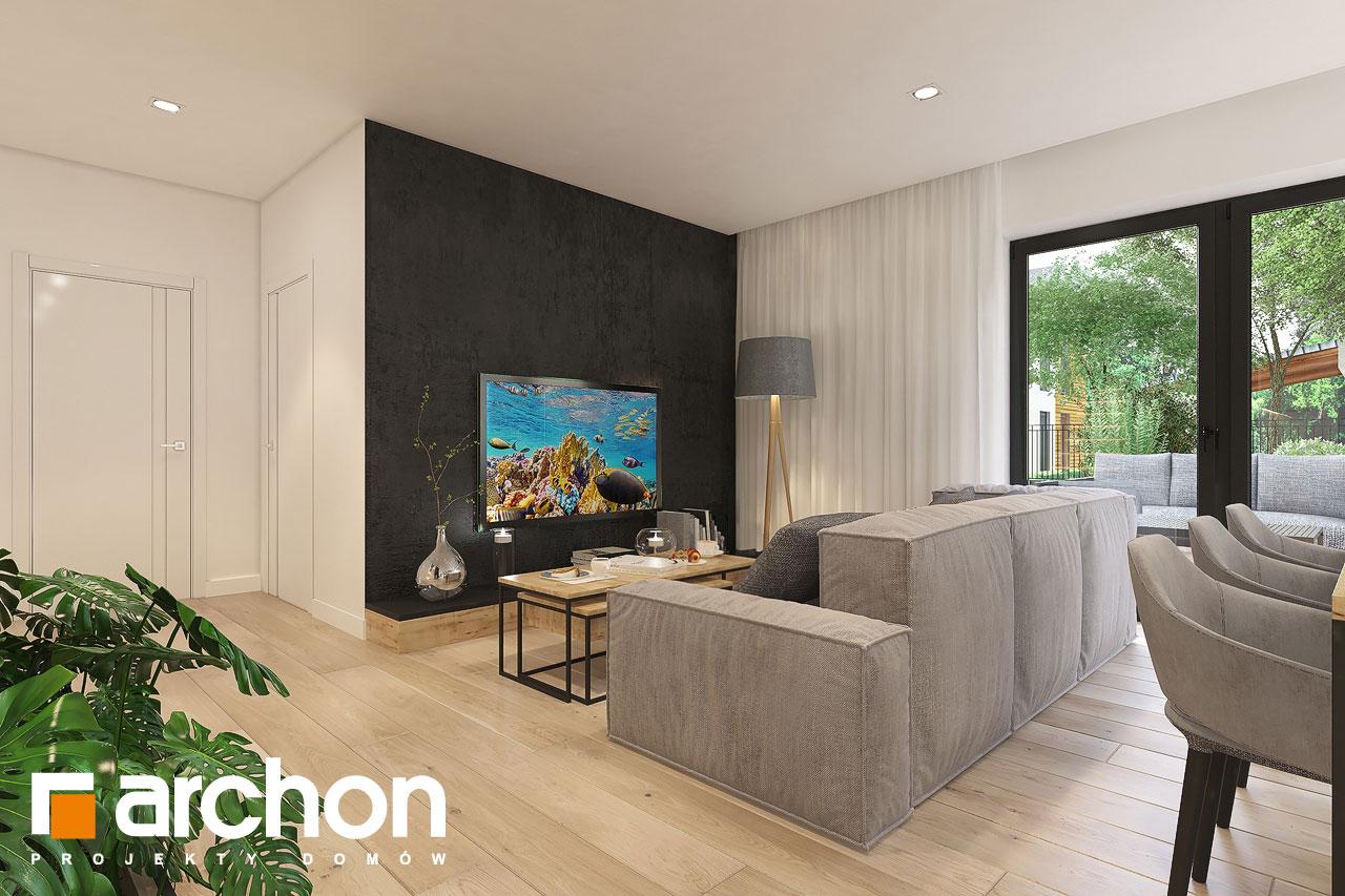 Проект будинку ARCHON+ Будинок в малинівці 11 (ГА) денна зона (візуалізація 1 від 3)