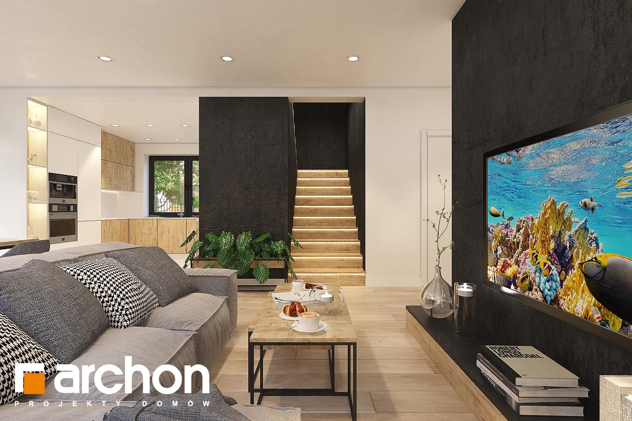 Проект будинку ARCHON+ Будинок в малинівці 11 (ГА) денна зона (візуалізація 1 від 4)