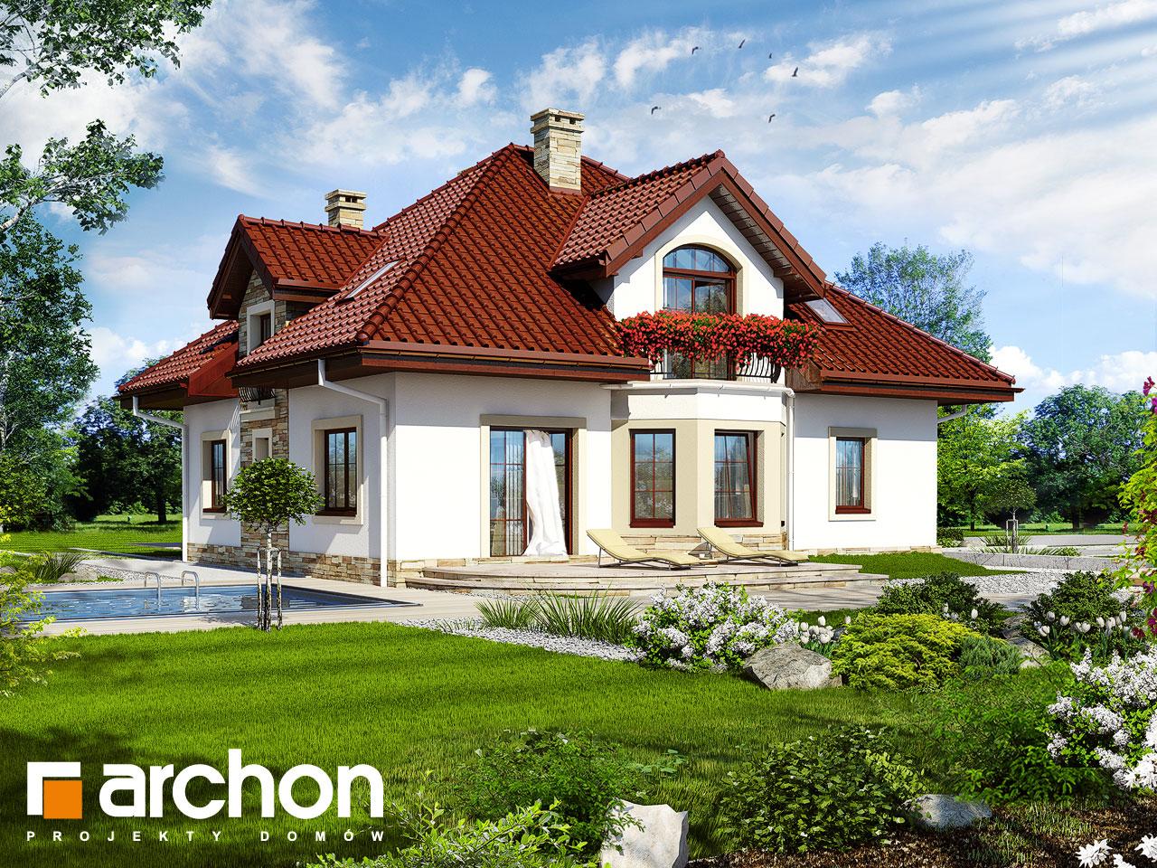 Проект будинку ARCHON+ Будинок в тим'яні 4 Вид 2