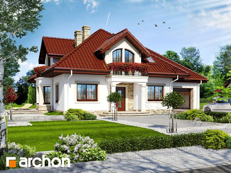 Проект будинку ARCHON+ Будинок в тим'яні 4 Вид 1