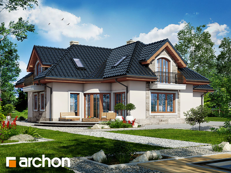Проект будинку ARCHON+ Будинок в алое 2 Вид 1