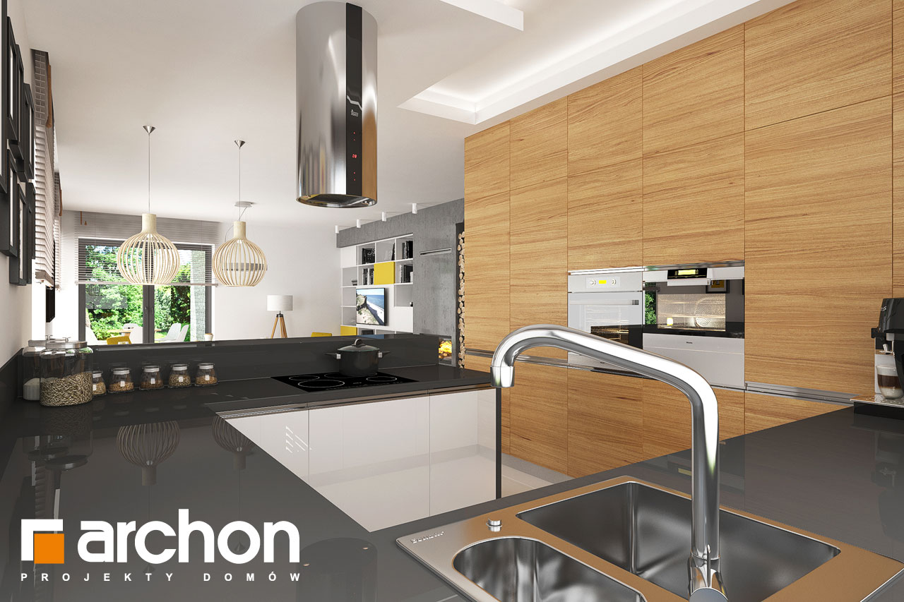 Проект будинку ARCHON+ будинок в ренклоді 2 візуалізація кухні 1 від 1