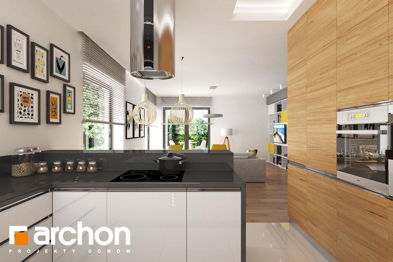 Проект будинку ARCHON+ будинок в ренклоді 2 візуалізація кухні 1 від 2