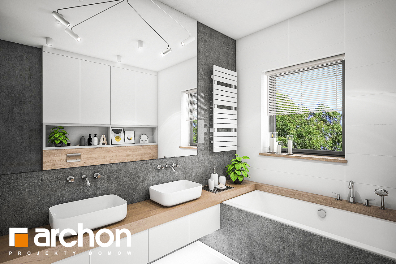 Проект будинку ARCHON+ БУДИНОК В РЕНКЛОДАХ 2 візуалізація ванни (візуалізація 3 від 2)