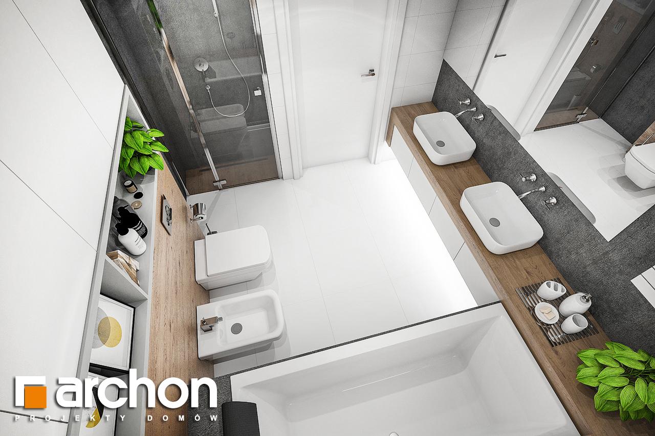 Проект будинку ARCHON+ будинок в ренклоді 2 візуалізація ванни (візуалізація 3 від 4)
