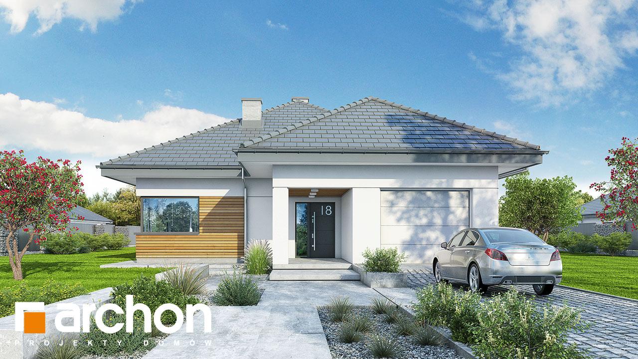 Проект будинку ARCHON+ будинок в ренклоді 2 стилізація 3
