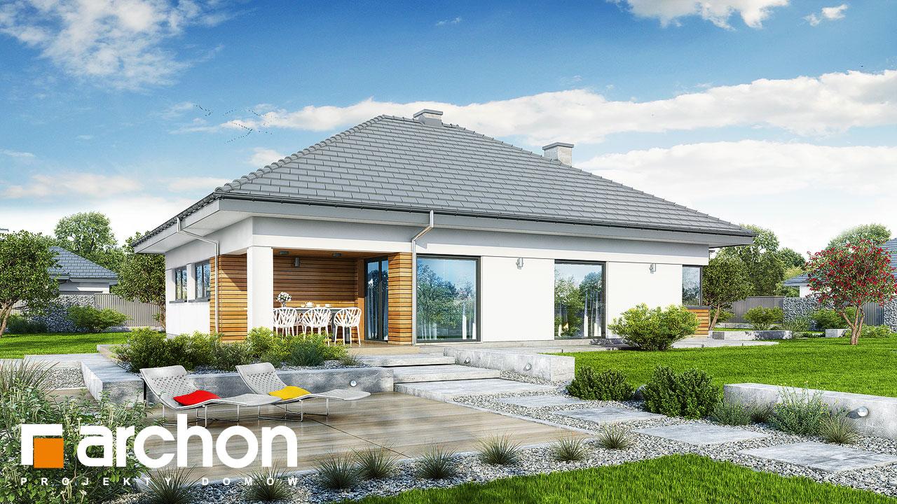 Проект будинку ARCHON+ будинок в ренклоді 2 стилізація 4