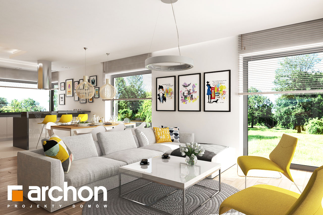 Проект будинку ARCHON+ БУДИНОК В РЕНКЛОДАХ 2 денна зона (візуалізація 1 від 4)