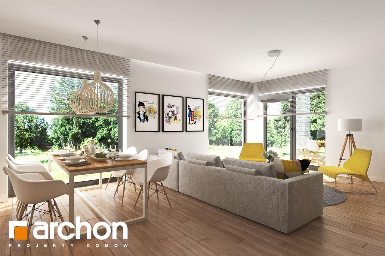 Проект будинку ARCHON+ будинок в ренклоді 2 денна зона (візуалізація 1 від 3)
