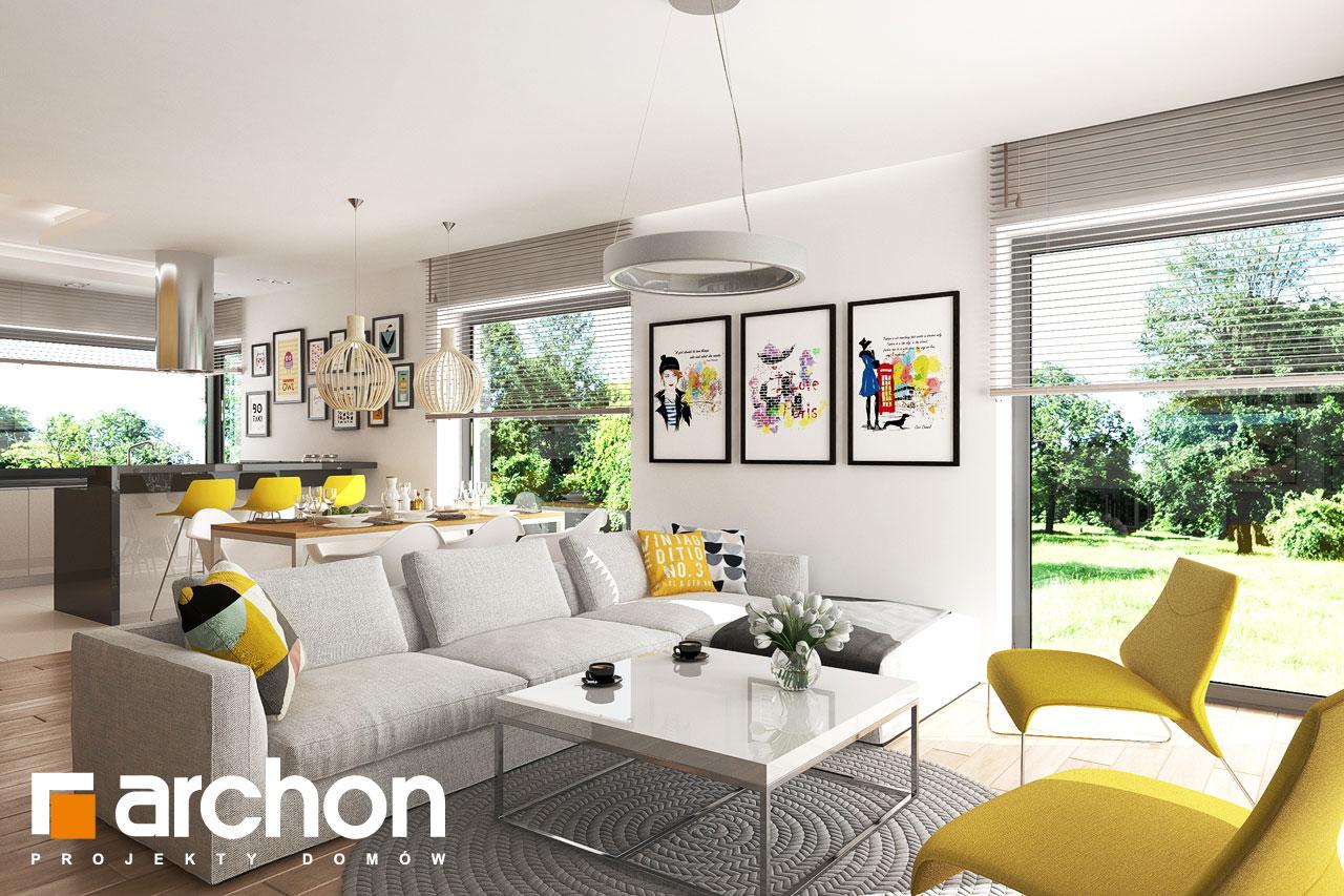 Проект будинку ARCHON+ будинок в ренклоді 2 денна зона (візуалізація 1 від 4)