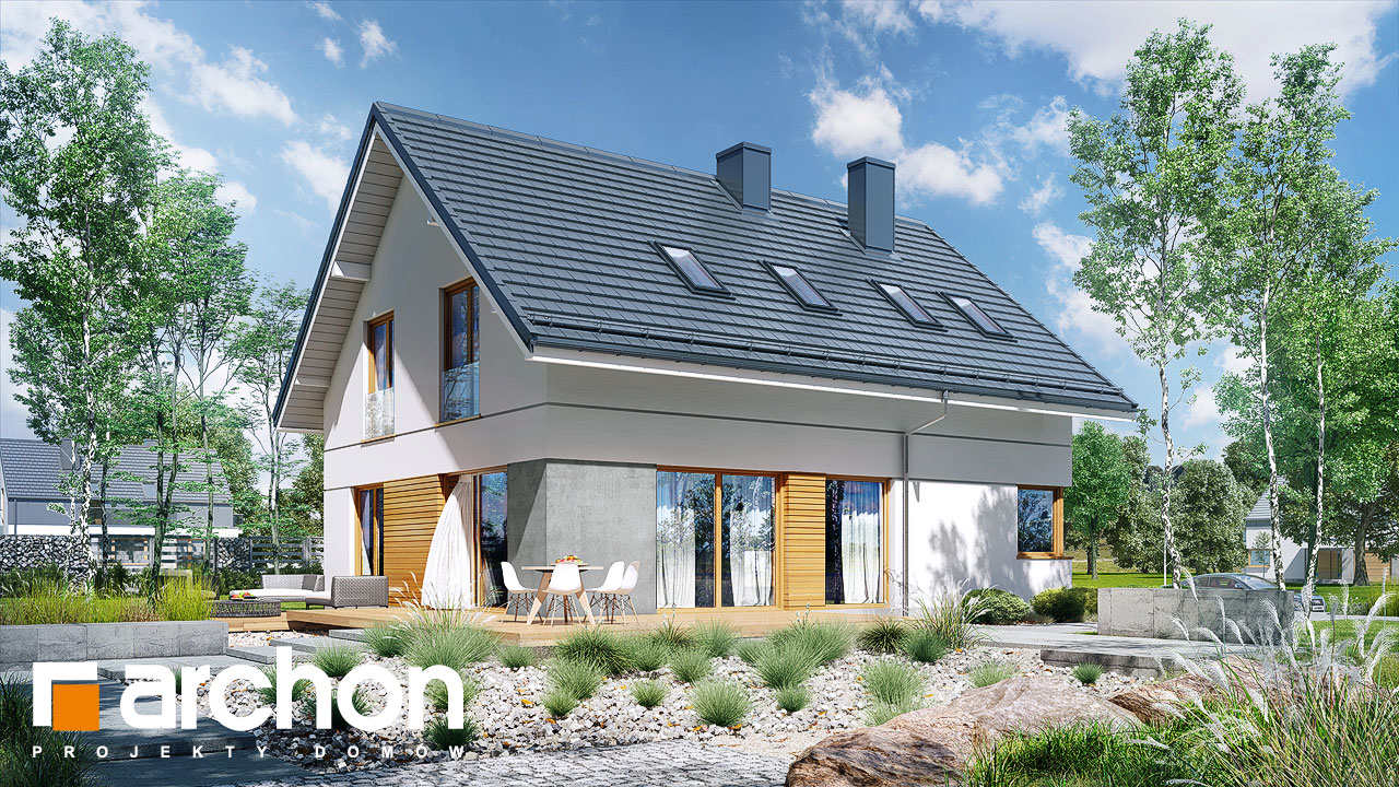 Проект будинку ARCHON+ Будинок під хікорою 3 Вид 2